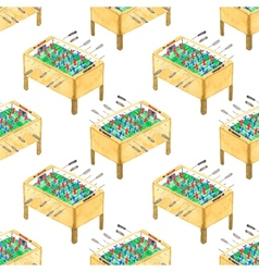 Watercolor seamless pattern with foosball tables vector image vector image
