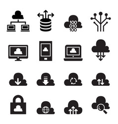 cloud computing concept icon set vector image vector image