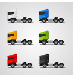colored trucks set vector image vector image