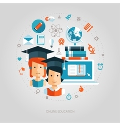 flat design education composition vector image vector image
