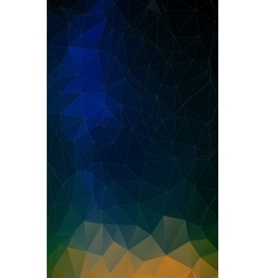 Flat triangle geometric colorful background vector image vector image