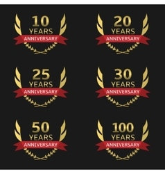 Golden Anniversary labels vector image