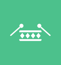 icon children musical instrument drum vector image vector image
