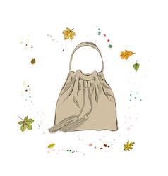 modern stylish bag of light brown color vector image