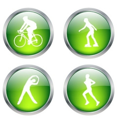 recreation buttons vector image vector image