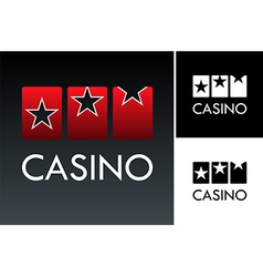 Slot and casino logo vector image vector image