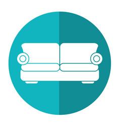 sofa comfor furniture shadow vector image vector image