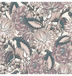 Vintage floral baroque seamless pattern vector image vector image
