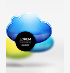 3d realistic clouds in grey space vector image vector image