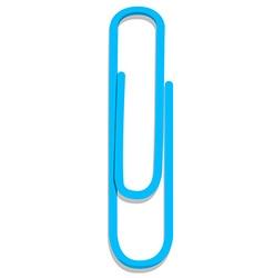 Blue paper clip vector image