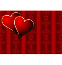 vintage hearts wallpaper vector image vector image