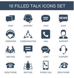 16 talk icons vector