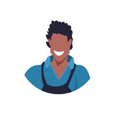 African master or repairman face avatar mechanic vector