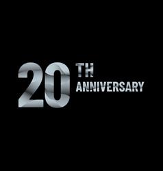 Anniversary 20th paper cut vector