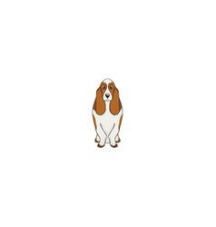 basset hound cartoon dog icon vector image