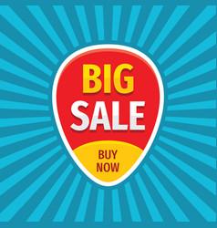 big sale badge banner design discount buy now vector image