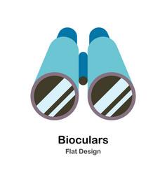 Binoculars flat vector