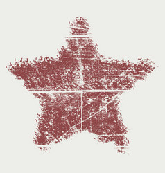 bold star red wood vector image