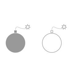 bomb it is black icon vector image