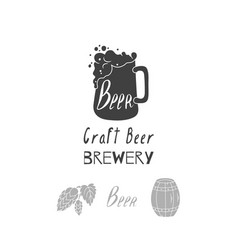 brewery logo template vector image