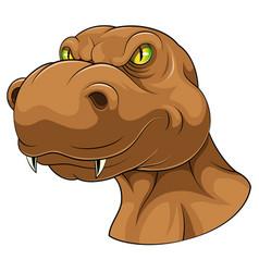 Brown tyrannosaurus head mascot vector