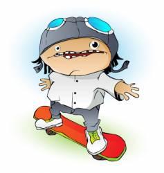 cartoon skateboarder vector image