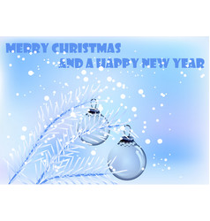 chrismas tree with decoration vector image