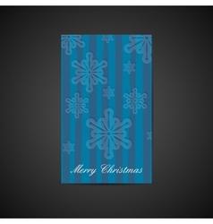 Christmas holiday postcard with snowflake vector image