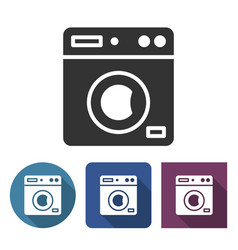 clothes washer icon in different variants with vector image
