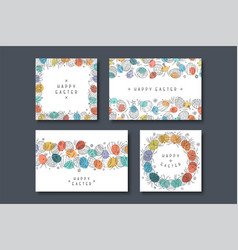 collection of holiday greeting cards happy easter vector image
