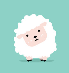 cute cartoon little sheep flat design vector image