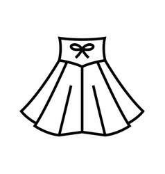 dancing skirt line icon concept sign outline vector image