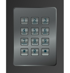 Digital dial of security lock vector image