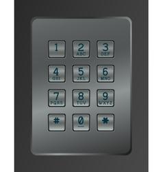 Digital dial of security lock vector