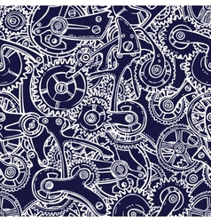 Engineers sketch seamless pattern vector image