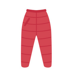 flat red warm trousers pants icon vector image