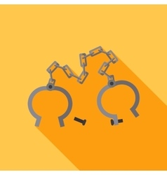 flat shackles Open vector image