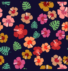 floral paradise tropic seamless pattern vector image