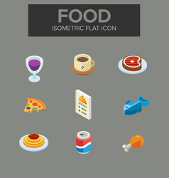 food isometric icon vector image