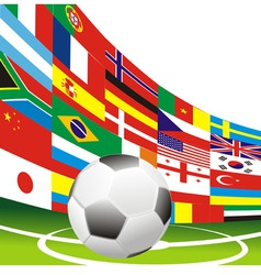 football flag vector image