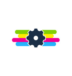 gear paint logo icon design vector image