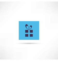 gift box with a bow icon vector image vector image
