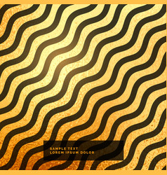 gold and black wavy pattern background vector image