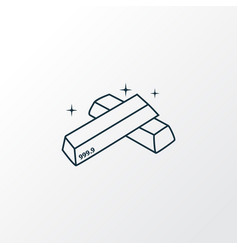Gold bars icon line symbol premium quality vector