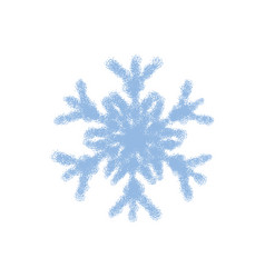 grainy snowflake isolated vector image