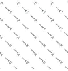hairdresser scisors pattern vector image