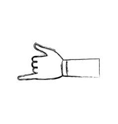 hand shaka aloha gesture symbol vector image