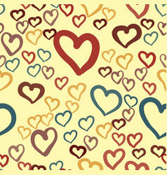 Hearts seamless valentines day background vector