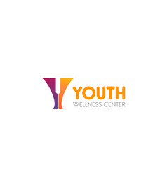 icon for wellness center youth vector image