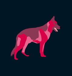 in flat style german shepherd vector image